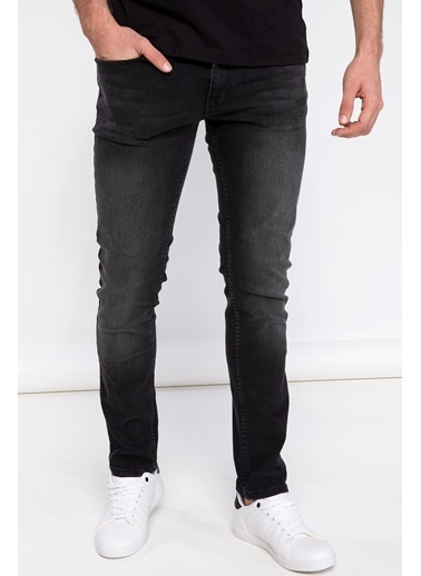 DeFacto Pedro Slim Fit Denim Pantolon Siyah